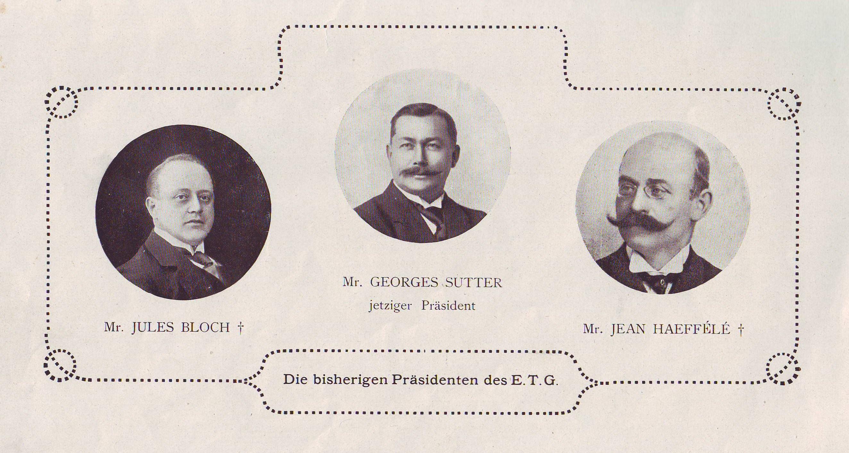 Les trois premiers Présidents du TAG